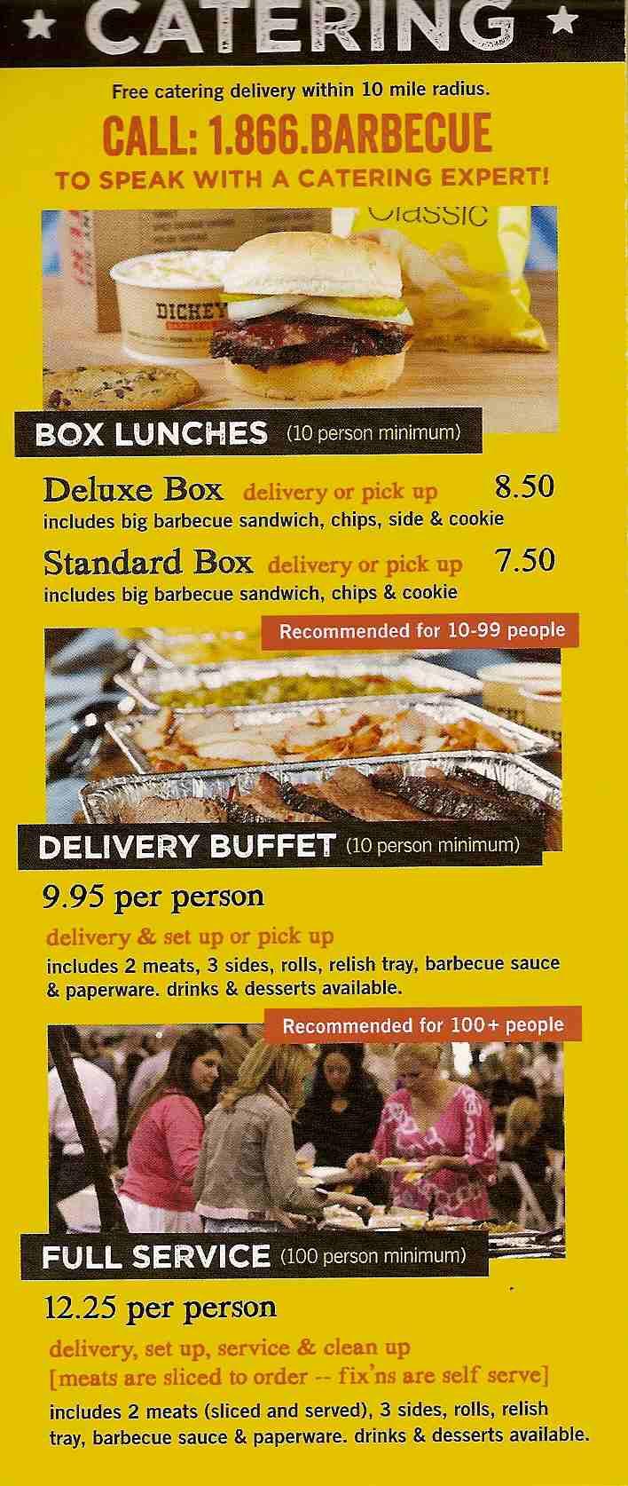 dickeys bbq menu