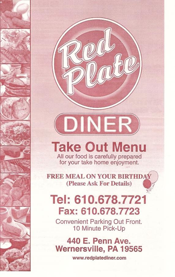 sc 1 st  Menus of Berks & Red Plate Diner menu